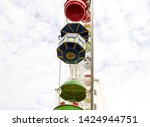 ferris wheel in the park...   Shutterstock . vector #1424944751