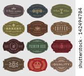 coffee  beer  wine labels | Shutterstock .eps vector #142494784