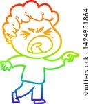 rainbow gradient line drawing... | Shutterstock .eps vector #1424951864