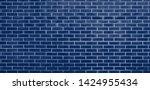 brick wall  blue bricks wall...   Shutterstock . vector #1424955434