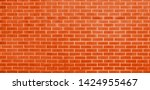 brick wall  orange bricks wall...   Shutterstock . vector #1424955467