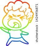 rainbow gradient line drawing... | Shutterstock .eps vector #1424956871
