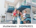 beautiful family portrait...   Shutterstock . vector #1424963021