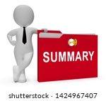 executive summary folder icon... | Shutterstock . vector #1424967407