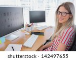 attractive photo editor working ... | Shutterstock . vector #142497655