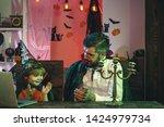 happy halloween songs. family....   Shutterstock . vector #1424979734