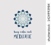 yoga ornamental emblem.... | Shutterstock . vector #1424993984