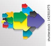 abstract geometrical design. | Shutterstock .eps vector #142501975