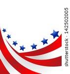usa flag in style vector | Shutterstock .eps vector #142502005
