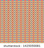 abstract retro pattern with...   Shutterstock . vector #1425050081
