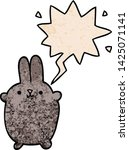 cartoon rabbit with speech... | Shutterstock .eps vector #1425071141