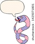 hissing cartoon snake with... | Shutterstock .eps vector #1425071801