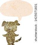 cartoon puppy with speech... | Shutterstock .eps vector #1425071831