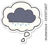 cartoon rain cloud with thought ... | Shutterstock .eps vector #1425071837