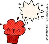 cartoon cupcake with speech... | Shutterstock .eps vector #1425072377