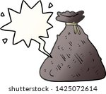 cartoon old hessian sack with... | Shutterstock .eps vector #1425072614