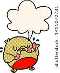 cartoon bird eating worm with... | Shutterstock .eps vector #1425072731