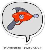 cartoon ray gun with speech... | Shutterstock .eps vector #1425072734
