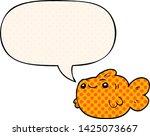 cartoon fish with speech bubble ... | Shutterstock .eps vector #1425073667