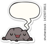 cartoon rock with speech bubble ... | Shutterstock .eps vector #1425073811
