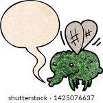 cartoon fly with speech bubble... | Shutterstock .eps vector #1425076637