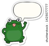 cartoon frog with speech bubble ... | Shutterstock .eps vector #1425077777