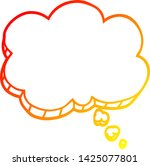 warm gradient line drawing of a ... | Shutterstock .eps vector #1425077801