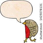 cartoon bird with speech bubble ... | Shutterstock .eps vector #1425078131