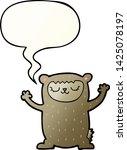 cute cartoon bear with speech... | Shutterstock .eps vector #1425078197