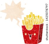 cute cartoon box of fries with... | Shutterstock .eps vector #1425078797