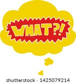 cartoon word what   with... | Shutterstock .eps vector #1425079214