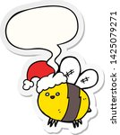 cute cartoon bee wearing... | Shutterstock .eps vector #1425079271