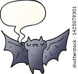 cute cartoon halloween bat with ... | Shutterstock .eps vector #1425079301