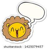 cartoon lion face with speech... | Shutterstock .eps vector #1425079457