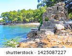 Small photo of Phaselis ancient city in Kemer of Antalya. Glorious beaches, calm sea, fab snorkelling and all set within ancient ruins that set the imagination. Very nice and historical place very quiet beach.