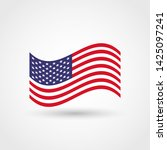 shape american flag.vector usa... | Shutterstock .eps vector #1425097241