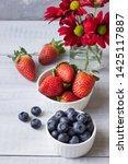 fresh berries  strawberries ... | Shutterstock . vector #1425117887