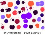 hand drawn set of colorful ink... | Shutterstock .eps vector #1425120497
