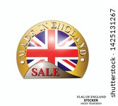 made in england sticker. bright ... | Shutterstock .eps vector #1425131267