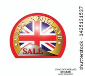 made in england sticker. bright ... | Shutterstock .eps vector #1425131537
