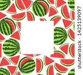 vector square watermelon frame...   Shutterstock .eps vector #1425139097