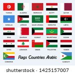 arab flags illustration vector ... | Shutterstock .eps vector #1425157007
