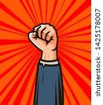 winner hand up. success in... | Shutterstock .eps vector #1425178007