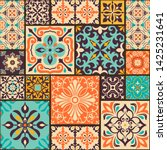 seamless colorful patchwork... | Shutterstock .eps vector #1425231641