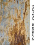 texture of old grunge rust wall | Shutterstock . vector #142523431
