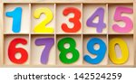 color cards with numbers in a... | Shutterstock . vector #142524259