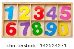 color cards with numbers in a... | Shutterstock . vector #142524271