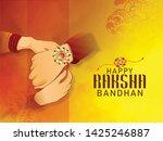 illustration of rakhi and gift... | Shutterstock .eps vector #1425246887