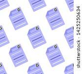 summary icon seamless pattern.... | Shutterstock . vector #1425250634