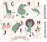 Cute Zoo Alphabet In Vector. G...